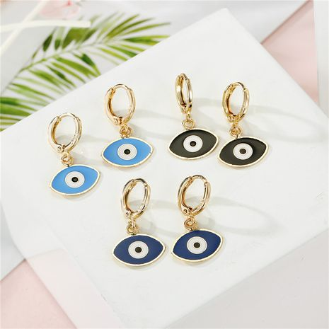 Petite Devil's Eye Turkey Dripping Eye Earrings wholesale NHGO249683's discount tags
