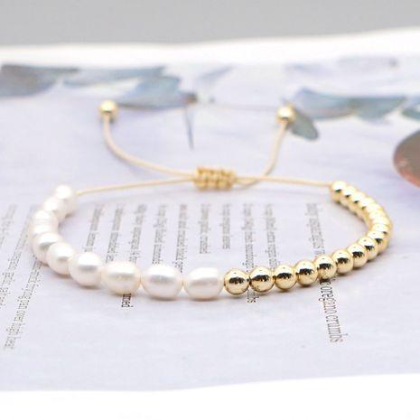 Pulsera de perlas naturales salvajes simples con cuentas de mijo arcoíris de nicho de moda para mujeres NHGW249686's discount tags
