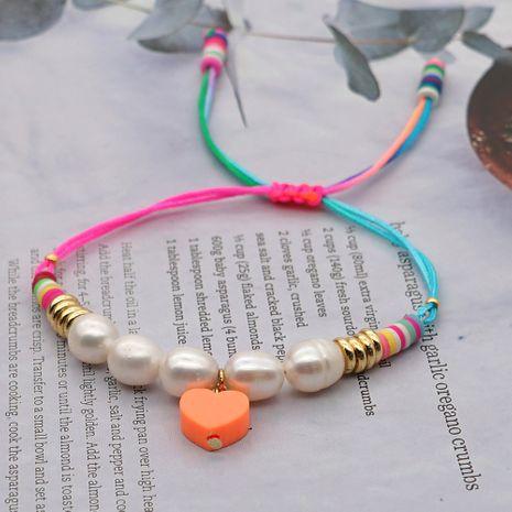 accesorios de venta caliente pulsera de perlas naturales de moda de estilo bohemio de arcilla coloreada para mujer NHGW249685's discount tags