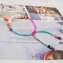 hotsaling accessories colored clay bohemian style fashion natural pearl bracelet for women NHGW249685