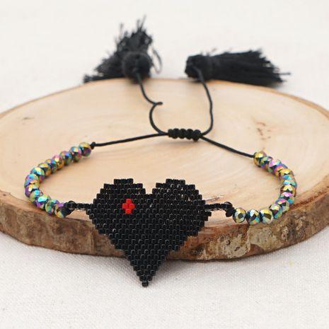 hot-saling fashion Bohemian Miyuki rice beads hand-woven love tassel ethnic style bracelet NHGW249687's discount tags