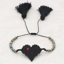 hotsaling fashion Bohemian Miyuki rice beads handwoven love tassel ethnic style bracelet NHGW249687