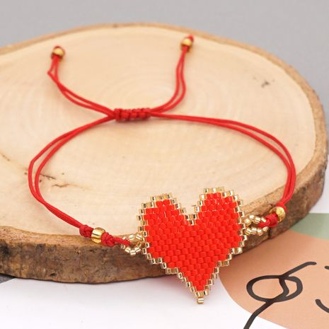 fashion Bohemian exotic ethnic rice beads handmade love-shaped beaded bracelet NHGW249689's discount tags