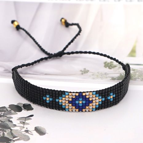fashion exotic ethnic rice beads hand-woven demon eye beaded bracelet for women NHGW249690's discount tags