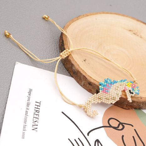 simple fashion abstract animal rice beads hand-woven seahorse bracelet for women NHGW249698's discount tags