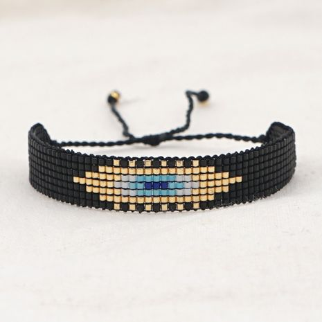 Fashion punk style trend wind ethnic style rice beads hand-woven demon eye bracelet for women NHGW249699's discount tags
