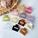 Korea retro caramel color hollow square hair clip transparent clip wholesale NHDM249706