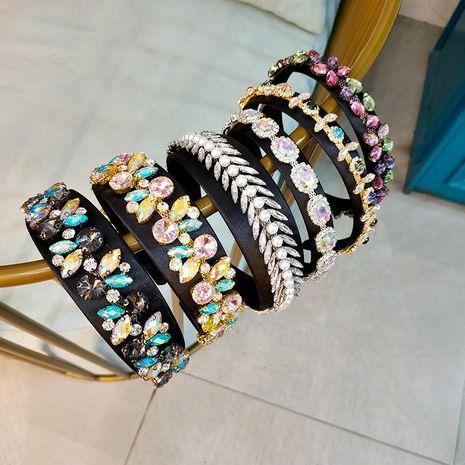 new Baroque style color headwear fabric rhinestone headband wholesale NHUX249726's discount tags
