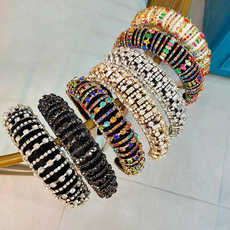 Baroque headband simple diamond  headband wholesale NHUX249732's discount tags