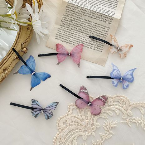 Cute girl butterfly hairpin word clip forest hairpin side clip wholesale NHCQ249756's discount tags