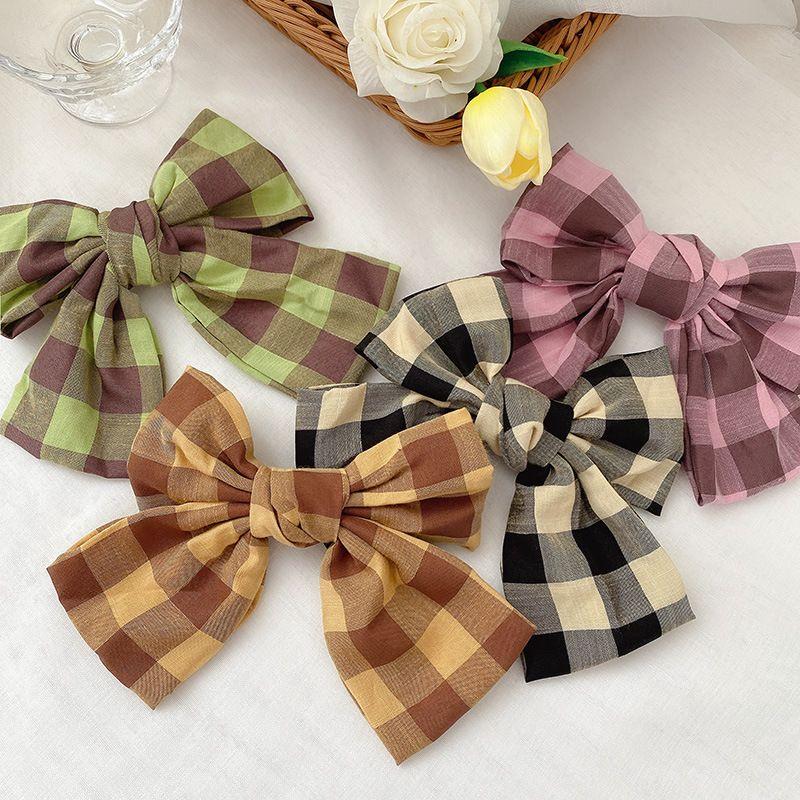 Forged face bow hairpin side clip girl Korean cute simple hair clip wholesale NHCQ249766