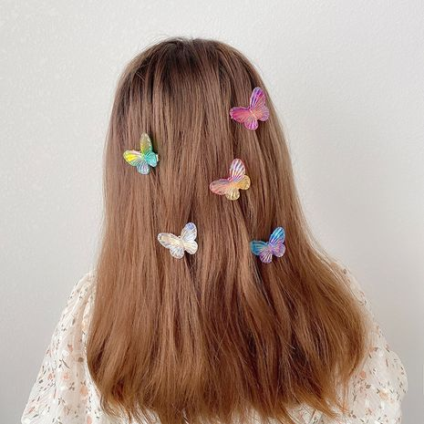 Butterfly hairpin cute girl simple word clip headdress hairpin wholesale NHCQ249767's discount tags