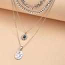 multilayer unique shape fashion ladies new alloy necklace  NHAJ249783