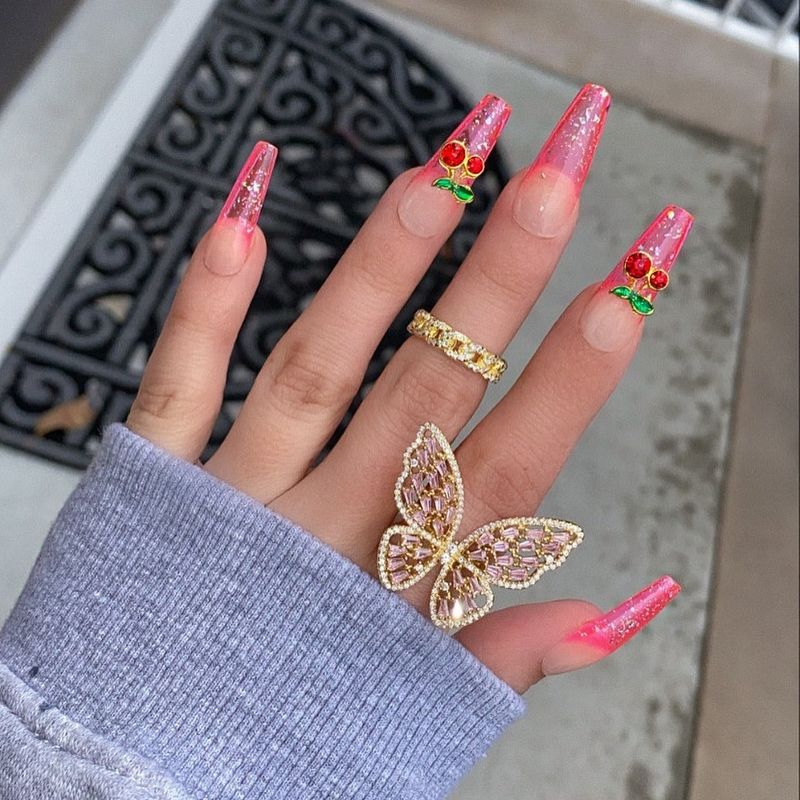bague papillon en diamant de mode simple en gros NHAJ249789