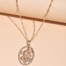 fashion full diamond Chinese style dragon womens necklace exaggerated Totem dragon wholesale NHAJ249802