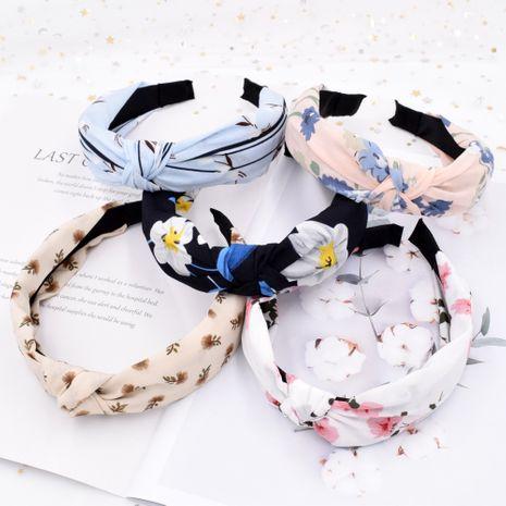 Diadema de diente de león con nudos cruzados de flores coreanas NHCL249862's discount tags