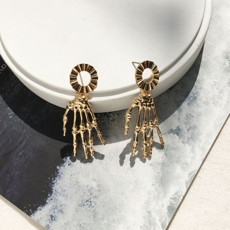 fashion trend alternative exotic exaggerated retro skull wholesale earrings NHAI249881's discount tags