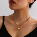 Fashion simple clavicle chain peach heart necklace for women wholesale NHXR249884