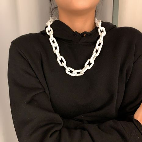Fashion punk hip hop style handmade cross chain geometric wild chain necklace NHXR249892's discount tags