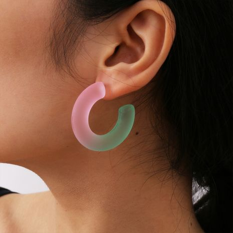 fashion simple gradient color retro ethnic acrylic earrings for women wholesale NHXR249898's discount tags