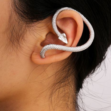 fashion geometric retro explosion punk cold wind snake-shaped alloy earrings NHXR249915's discount tags