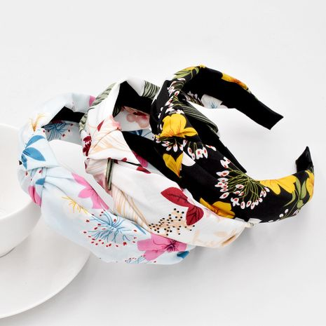 Flower Fabric Fashion Hair Band Knotted Flower Head Buckle Hair Accessories wholesale NHCL249836's discount tags