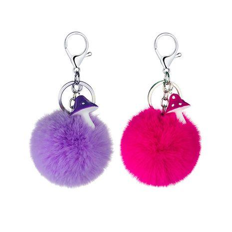 Porte-clés boule de cheveux mini champignon couleur résine créative en gros NHAP249977's discount tags