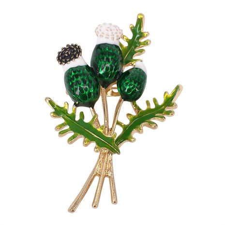 new enamel dandelion flower  painted oil dripping plant brooch wholesale NHAP249983's discount tags