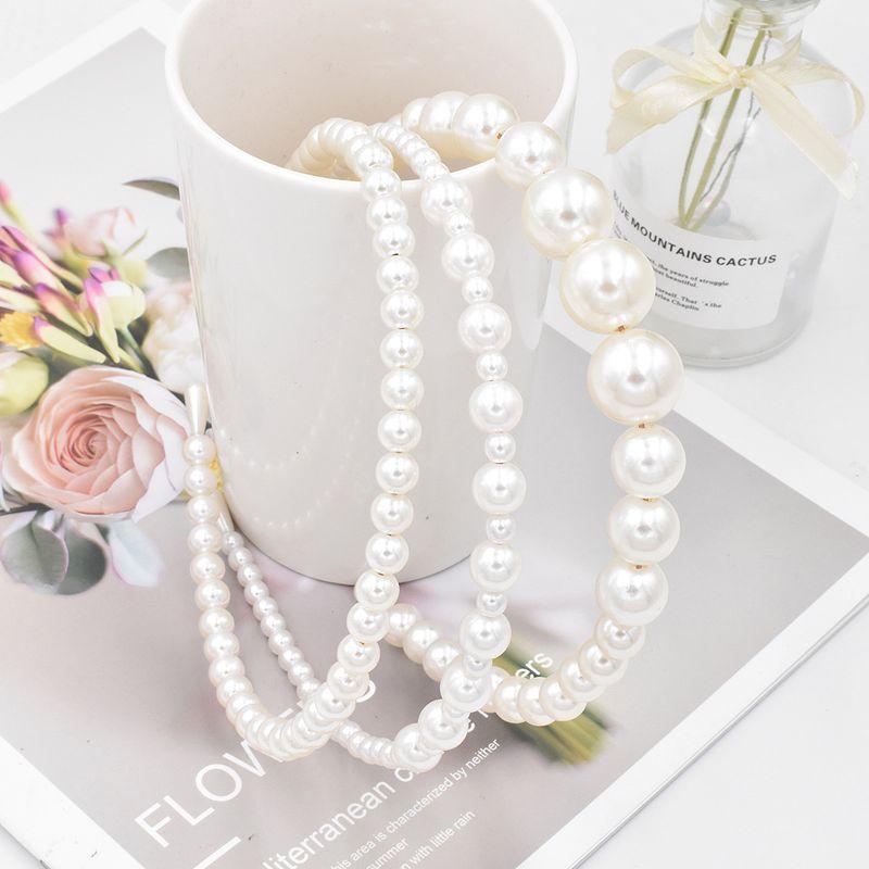 Beaded Oversized Pearl Headband Hair Accessories Highlight Pearl Headband wholesale NHCL249989