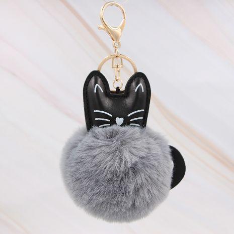Dessin animé en peluche chat animal fourrure boule chaton porte-clés pendentif en gros NHCL249998's discount tags
