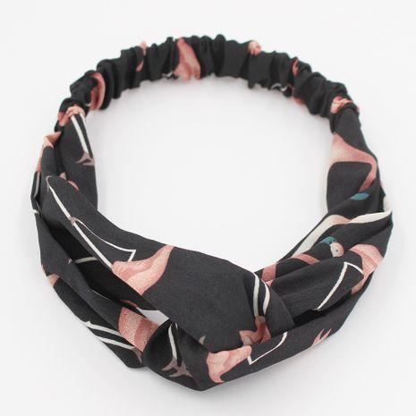 Venta al por mayor de la venda del pelo de la tela cruzada elástica del flamenco coreano NHCL250011's discount tags