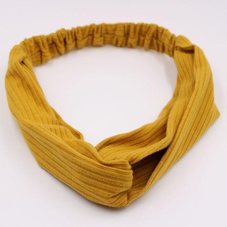 Diadema a rayas de color sólido tejido con diadema cruzada elástica de estilo caliente al por mayor NHCL250016's discount tags