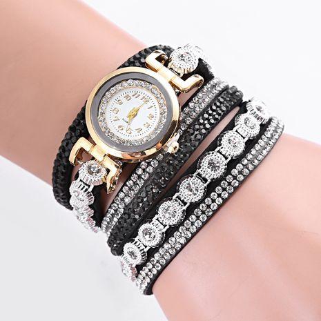 Venta al por mayor popular del reloj de la pulsera de la correa de la PU del terciopelo de la moda de las señoras de la correa NHSS250049's discount tags