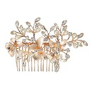 Korean alloy hair comb insert comb butterfly pearl inlaid diamond bridal wedding headdress wholesale NHHS250056