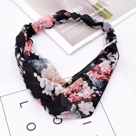 Corea gasa transpirable flor tela femenina cruz elástica lavado cara diadema al por mayor NHCL250077's discount tags
