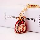 Creative Chinese style dripping oil craft lucky bag handbag key chain metal pendant wholesale  NHAK250187