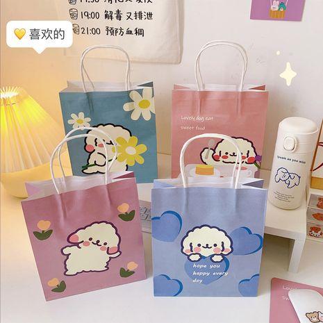 Dessin animé mignon sac d'emballage trompette simple sac de papier fourre-tout en gros NHZE250207's discount tags