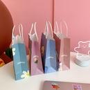 Cartoon cute packaging bag trumpet simple tote paper bag wholesale  NHZE250207