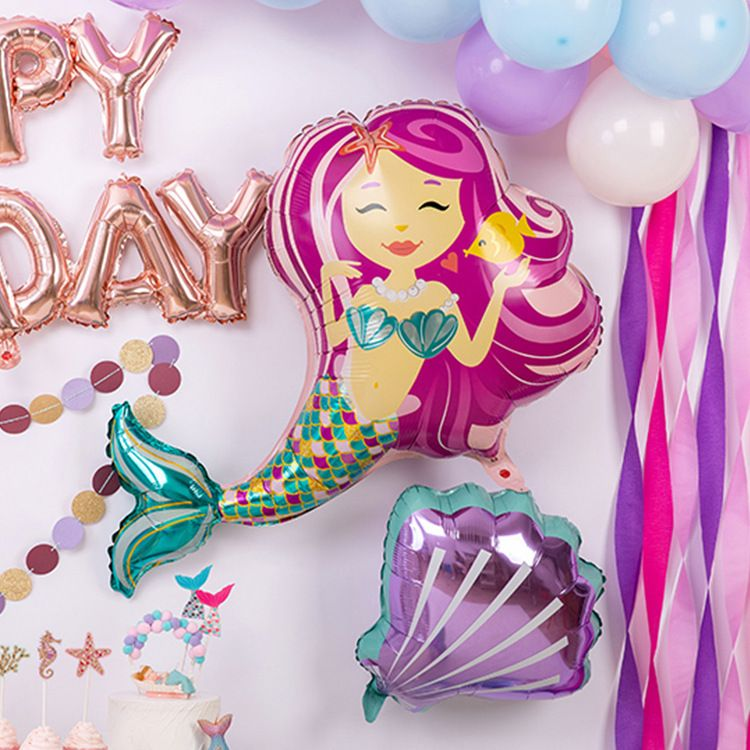 Hot Sale New Mermaid Balloon Venue Decoration Birthday Party Supplies Aluminum Film Balloon wholesale  NHAH250224