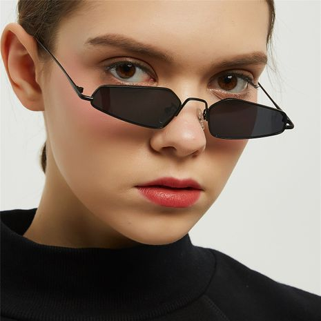 metal pointed cat eye sunglasses retro ultra small frame polygonal glasses hip-hop trend sunglasses wholesale  NHXU250232's discount tags