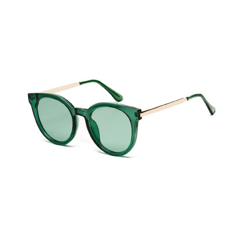 Korean crystal frame sunglasses retro marine lens glasses wholesale  NHXU250241's discount tags