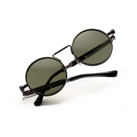 metal round retro steampunk round hip-hop street sunglasses wholesale  NHXU250272's discount tags