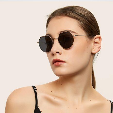 polygon metal frame thin legs retro glasses sunglasses wholesale  NHXU250280's discount tags