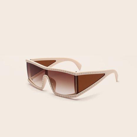 square big frame rivet non-mainstream cool sunglasses wholesale  NHXU250281's discount tags