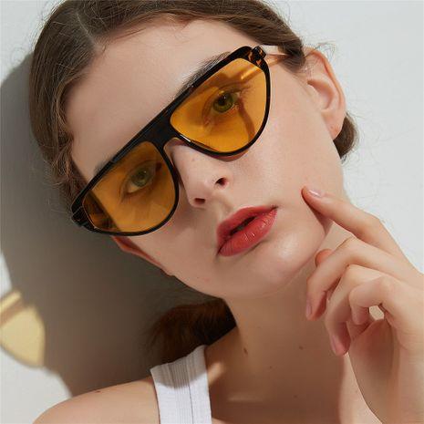 large frame transparent color lens decorative sunglasses wholesale  NHXU250284's discount tags