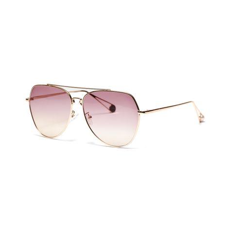transparent ocean lens big frame metal glasses pink retro glasses wholesale  NHXU250285's discount tags