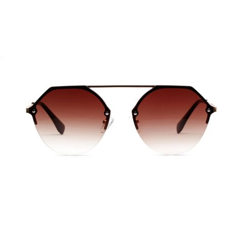 new Korean transparent color lens glasses metal diamond polygonal UV protection sunglasses wholesale  NHXU250287's discount tags