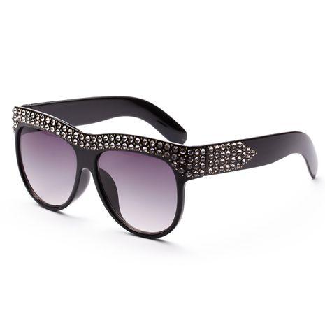 diamond-studded ladies big box sunglasses wholesale nihaojewelry NHXU250289's discount tags