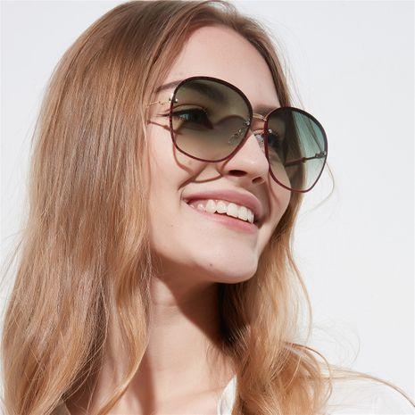 glitter square frame metal big frame sunglasses wholesale  NHXU250294's discount tags