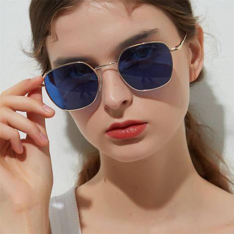 small frame ocean color lens metal square sunglasses wholesale  NHXU250297's discount tags